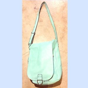 Handbags - Teal Faux Leather Messanger Purse